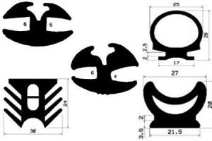 Guminiai profiliai ir virvės aprašymai