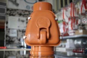 Atbulinis vožtuvas kanalizacijai  Dn110, oranžinis